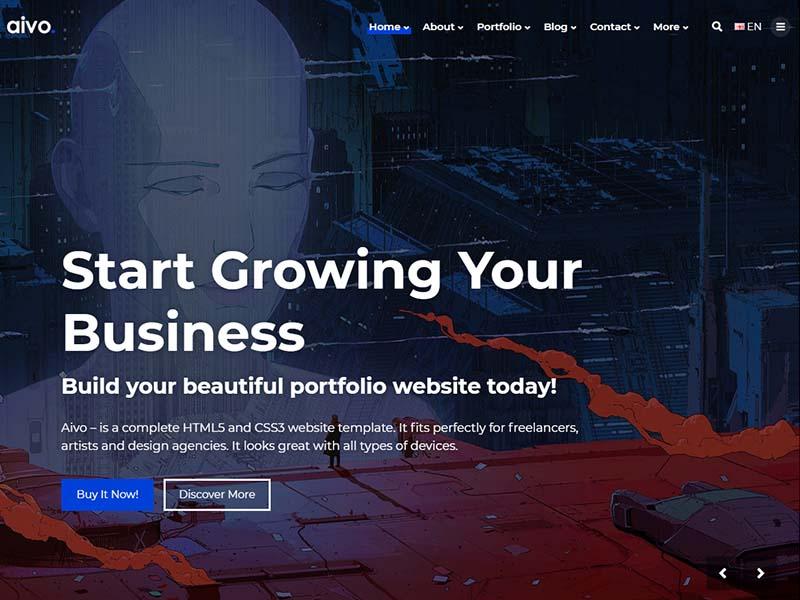 Aivo - Multipurpose Portfolio HTML Website Template